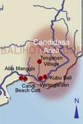 Bali Hotels - Location of hotels in Candidasa