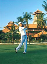 Bali Hilton is next to Bali Golf & Country Club